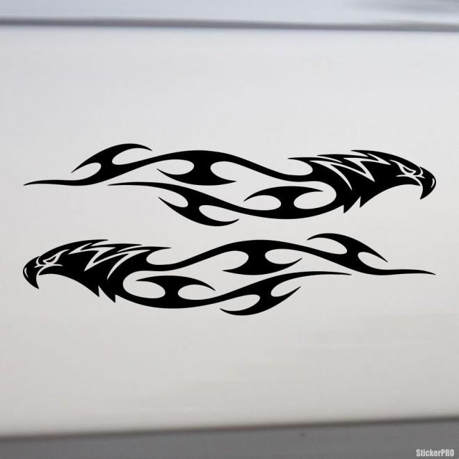 Наклейка 2 орла в пламени флэймз