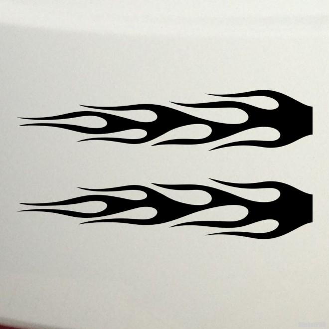 Наклейка флэймз два зеркальных пламени 11