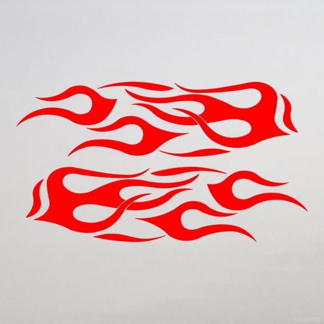 Наклейка флэймз 2 зеркальных пламени