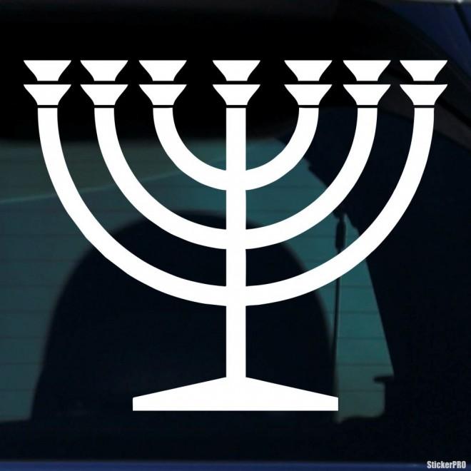 Наклейка менора подсвечник Иудаизм