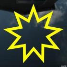 Наклейка звезда Бахаи