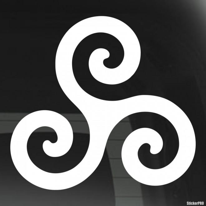 Наклейка Трискелион древний символический знак. Кельтское неоязычество.