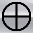 Наклейка cолнечный крест