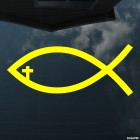 Наклейка ихтис рыбка Христианство