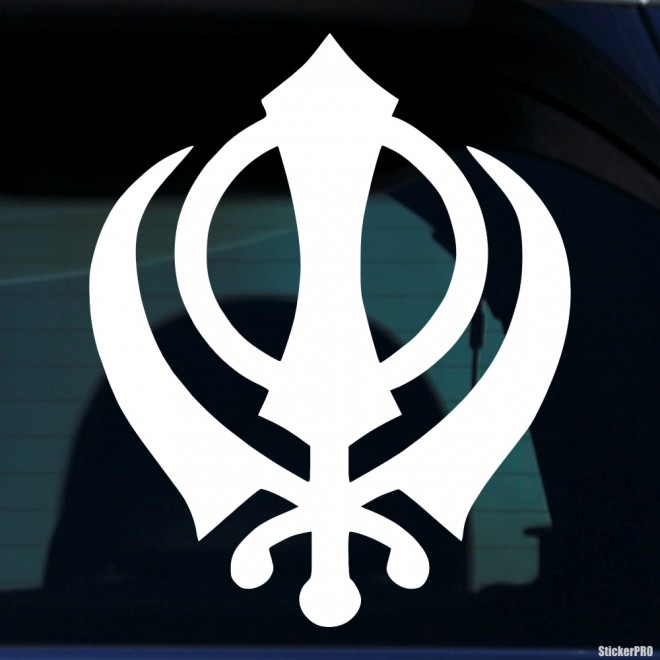 Наклейка кханда Сикхизм