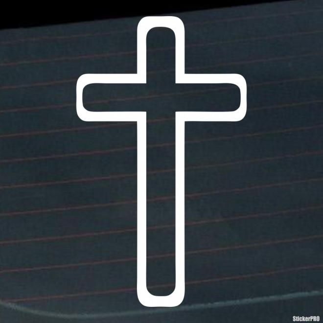 Наклейка латинский крест Христианство
