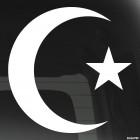 Наклейка звезда и полумесяц Ислам