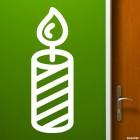 Наклейка свеча