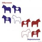 Наклейка 4 шведских лошади Дала