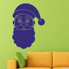 Наклейка лицо Санта Клауса
