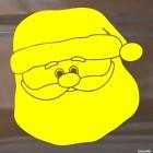 Наклейка лицо Деда Мороза