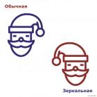 Наклейка Санта Клаус иконка