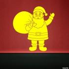 Наклейка Санта Клаус с подарками