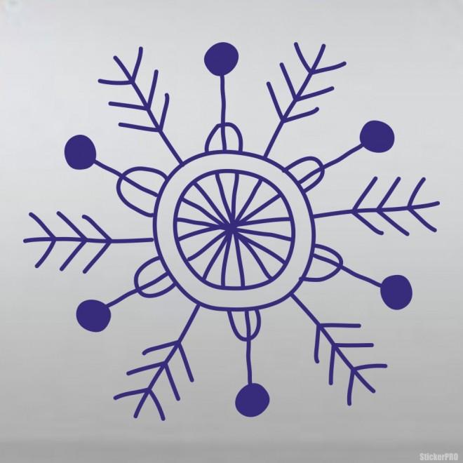 Наклейка снежинка