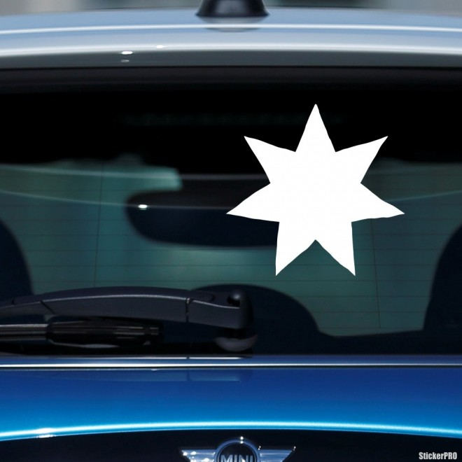 Наклейка рождественская звезда 7 лучей