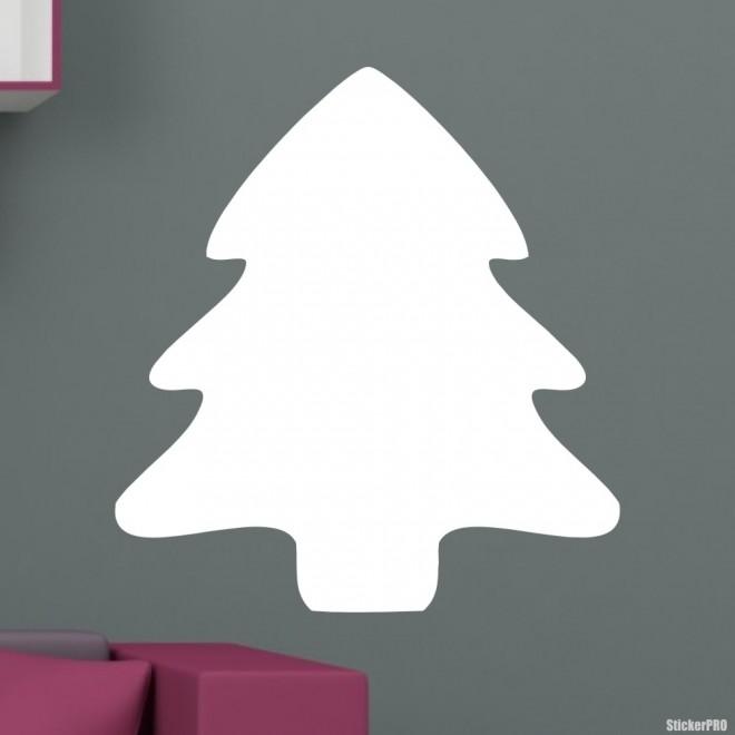 Наклейка новогодняя ёль иконка