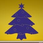 Наклейка новогодняя ёль с шарами