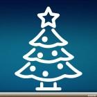Наклейка новогодняя ёль со звездой